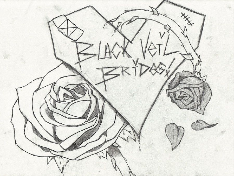 black veil brides drawings black veil brides design by