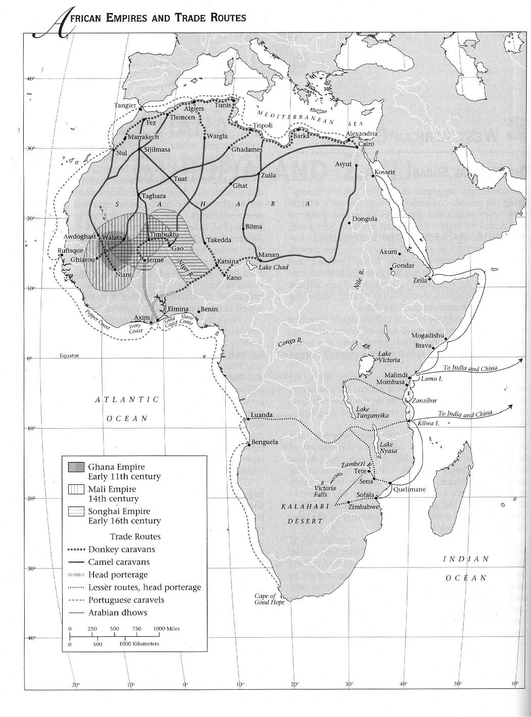 Trade Routes in Africa (1100-1500) | Geography | Social