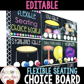 This editable flexible seating choice board is intended to display the choices that your students have throughout day also rh pinterest