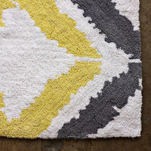 Tali Bath Mat I love grey and yellow together.