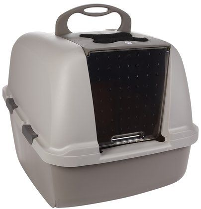 Catit Jumbo Cat Litter Pan Provide Privacy To Your Kitty While She Uses The Privy And Make The Cleanup Easier This Cat Litter Box Cat Litter Pan Cat Litter