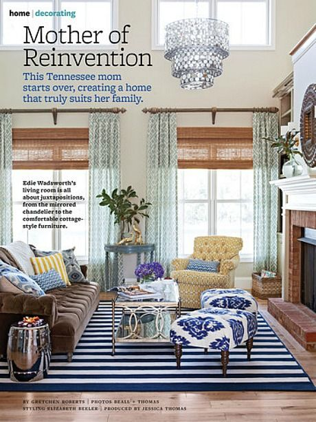 Better Homes And Gardens Small Living Rooms Modern Furniture Room Ideas Mother Of Reinvention Edie Life In Grace Space Striped Rug Brown Velvet Tufted Couch