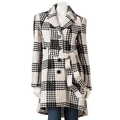 Candie's Wool Checked Coat. So cute!!