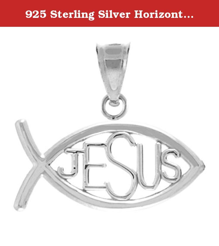 925 sterling silver horizontal jesus ichthus charm christian fish 925 sterling silver horizontal jesus ichthus charm christian fish pendant this 925 sterling silver catholicchristian ichthus fish with pendant exemplifies aloadofball Choice Image