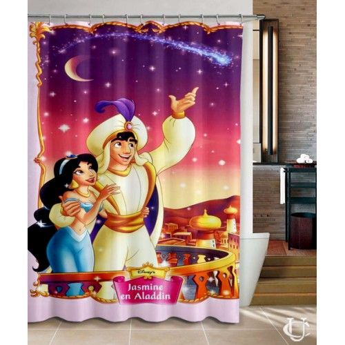 Aladdin And Jasmine Princess Movie Best Shower Curtains Disney