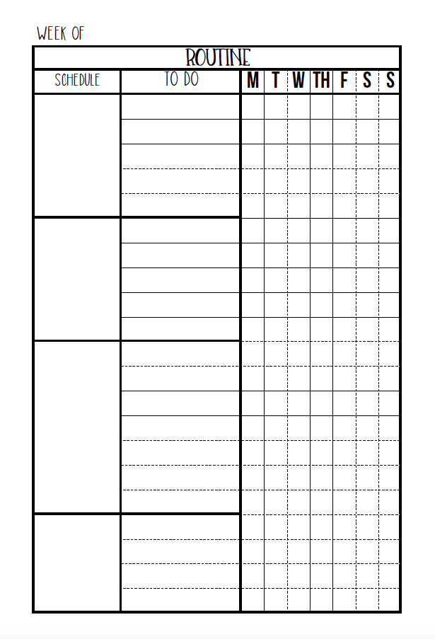 editable routine checklist daily planner printable pinterest