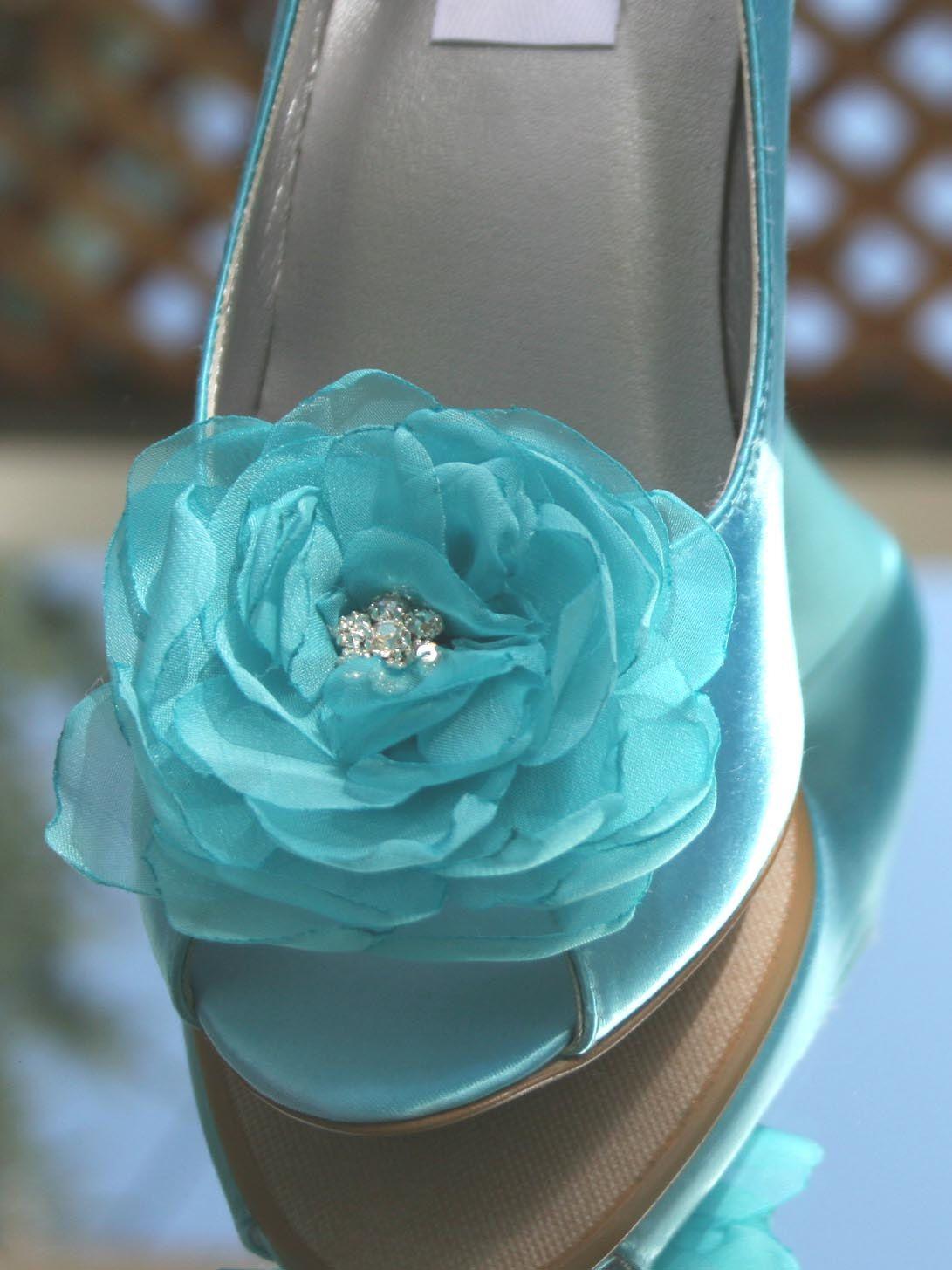 Wedding shoes tiffany blue satin peeptoes wedges with matching wedding shoes tiffany blue satin peeptoes wedges with matching tiffany blue flower adornment izmirmasajfo