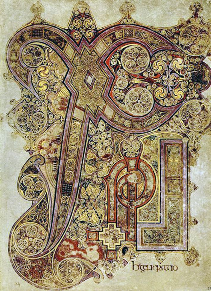 The Chi Rho Symbol From The Book Of Kells Gospel Of Saint Matthew