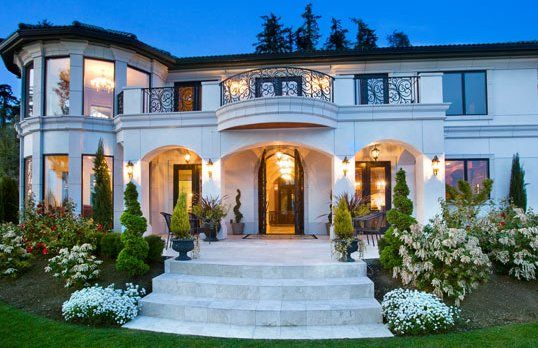 Exquisite Waterfront Estate Bellevue Wa House And Home Magazine Mansions Mansions Luxury