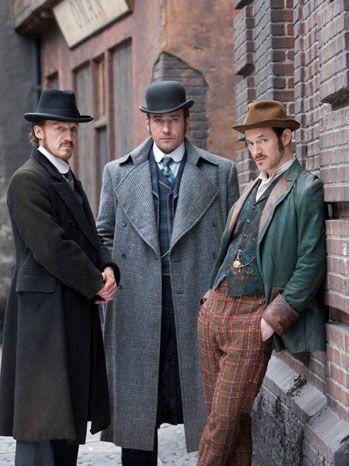 L-R: Jerome Flynn (Bennet Drake), Matthew (Edmund Reid), Adam Rothenberg (Homer Jackson)