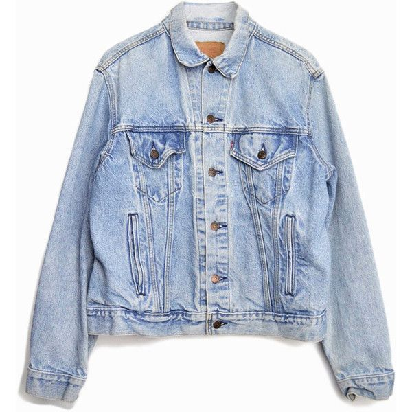 Vintage Levi s Denim Jean Jacket in Faded Light Wash ( 68) ❤ liked on  Polyvore featuring outerwear, jackets, coats   jackets, tops, 80s jackets,  ... b63b6b9d52
