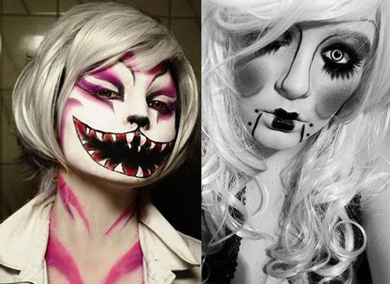 25 best crazy scary halloween make up looks ideas 2012 for girls women 550 400 pixels. Black Bedroom Furniture Sets. Home Design Ideas