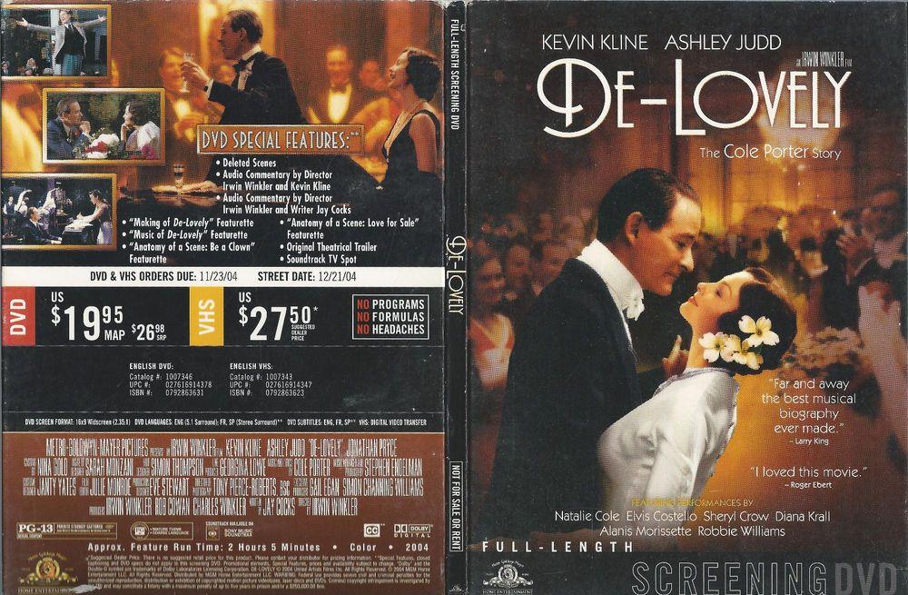 DeLovely (DVD) SCREENER!!! Lovely, Dvd, Sene
