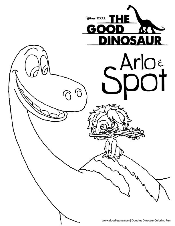 The Good Dinosaur coloring pages--Arlo and Spot | The Good dinosaur ...