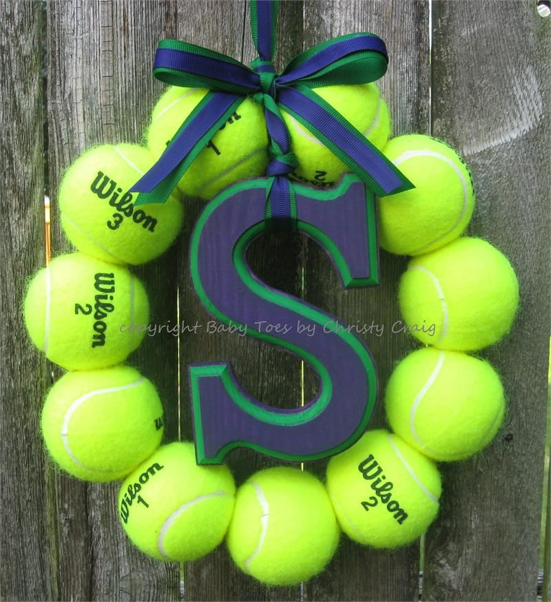 Tennis Love Wreath with Letter Sports Love Wreaths