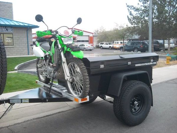 Motorcycle Across Front Of M416 Expedition Portal Jeep Trailer