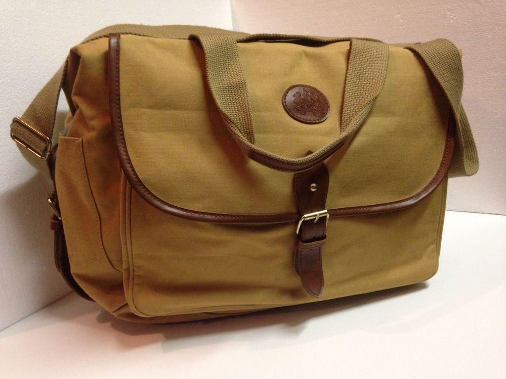 Polo Ralph Lauren Safari Canvas Leather Duffle Overnight Khaki Tan Bag Fashion Clothing Shoes Accessories Mensaccessories Bag Leather Duffle Tan Bag Bags