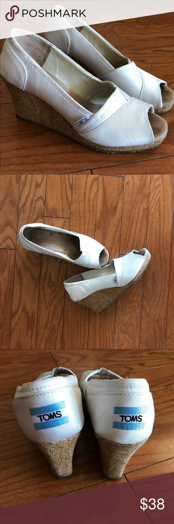 5319fe2cdf4 Peep Toe · Elegant · TOMS Stella Wedding White Grosgrain Wedge Heels Still  selling on Toms website for  79.98! The