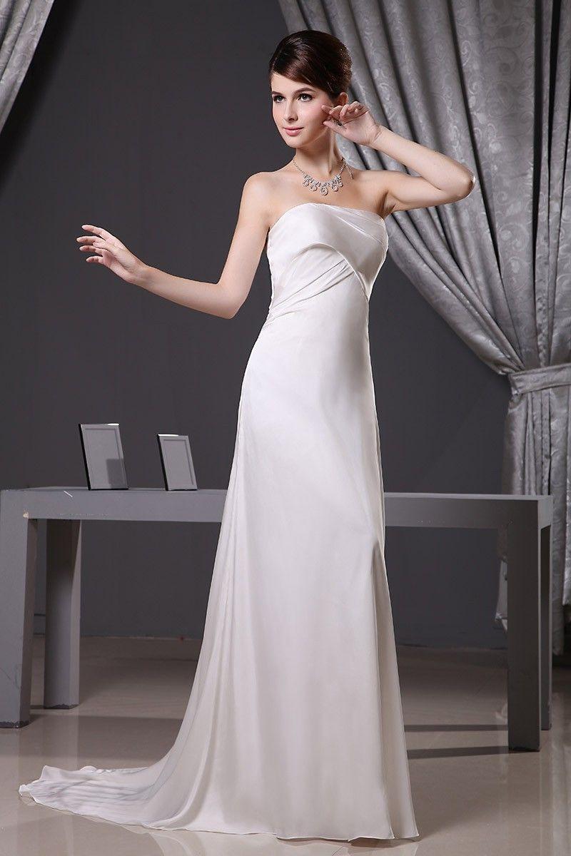 43++ Strapless satin a line wedding dress ideas