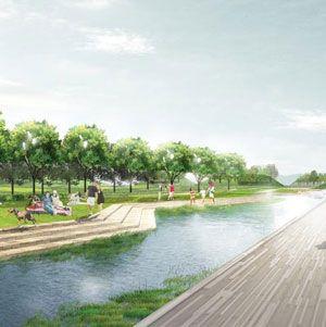 Big Piece Of L A River Revitalization Plan Held Up Landscape Architecture Design Landscape Design Drawings Landscape Design