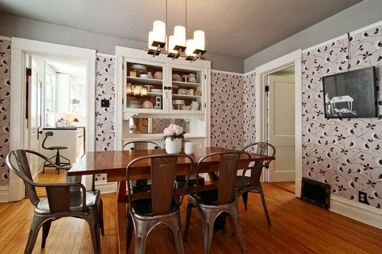 Target Carlisle dining chairs and an old door turned dining room ...