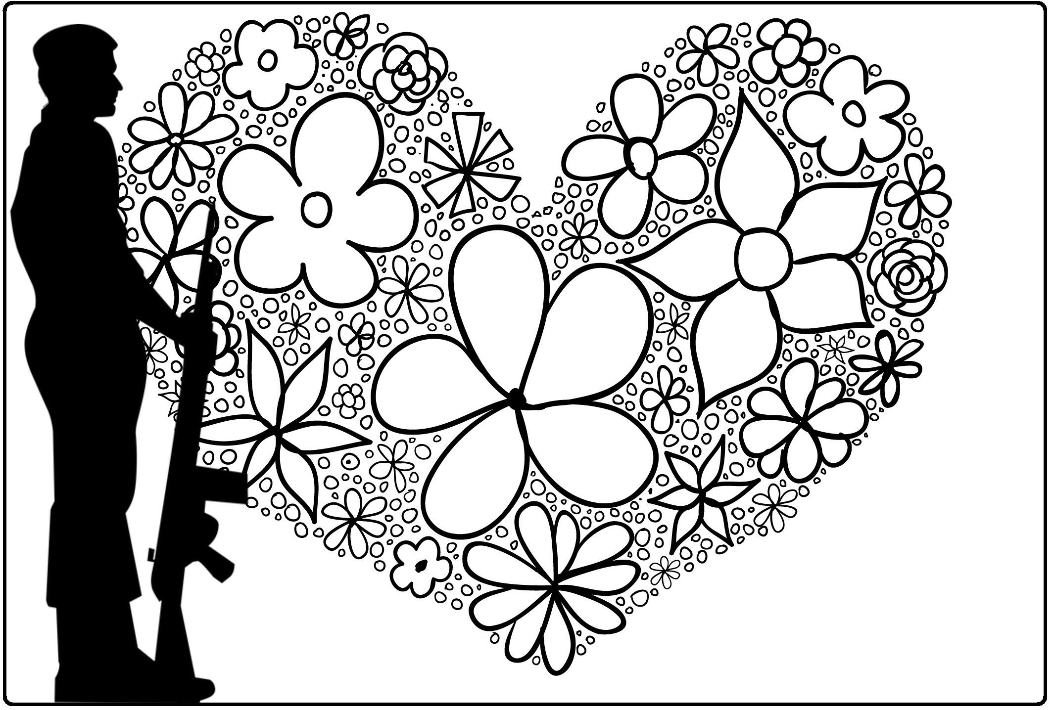 Military Love Coloring Pages Love Coloring Pages Coloring Books Love Notes For Husband