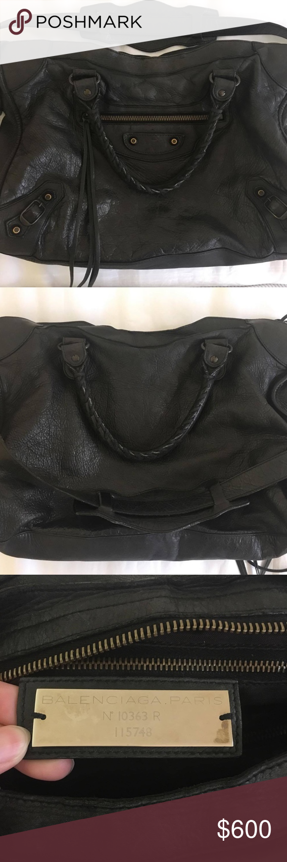 81b50a32dacb Balenciaga Classic City Black Used 100% authentic Balenciaga City bag.  Condition seen in pictures