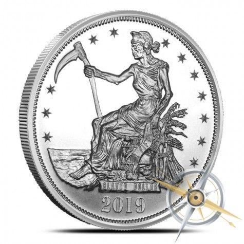 Zombucks Slayed Dollar 1 Oz Silver Round Silver Rounds Silver Coins Silver Bullion