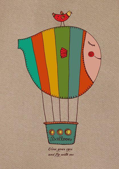 gayana danilova hot air balloons art balloon illustration hot air balloon tattoo pinterest