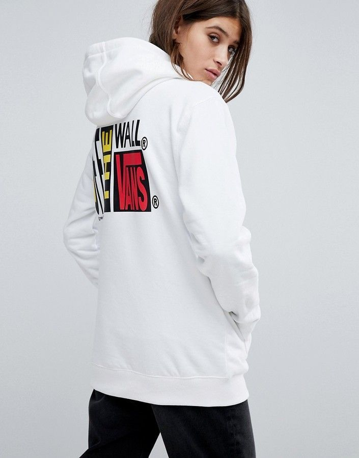1869a7c754 Vans Oversized Hoodie In White With Logo