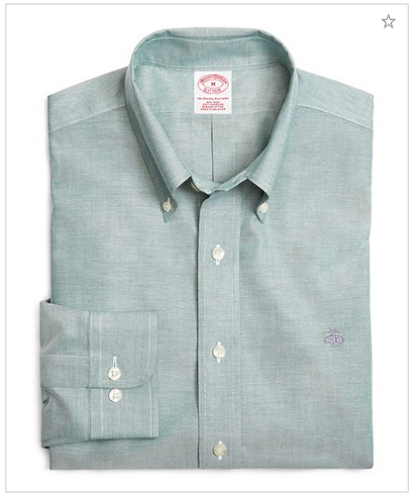 4e4ea3a73ff Supima® Cotton Non-Iron Regular Fit Solid Oxford Sport Shirt at Brooks  Brothers King Street