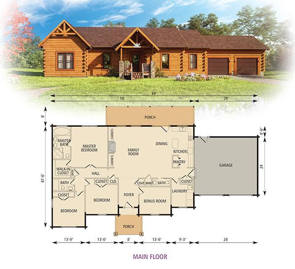 York Log Home Floor Plan From Appalachian Log Structures Log Home Floor Plans Log Cabin Floor Plans Log Cabin Plans