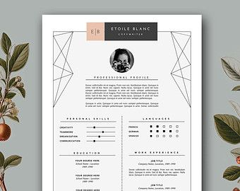 resume design modern resume cv template resume template cover letter creative professional resume resume template word instant download