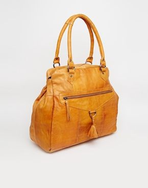 Enlarge Pieces Leather Tote Bag