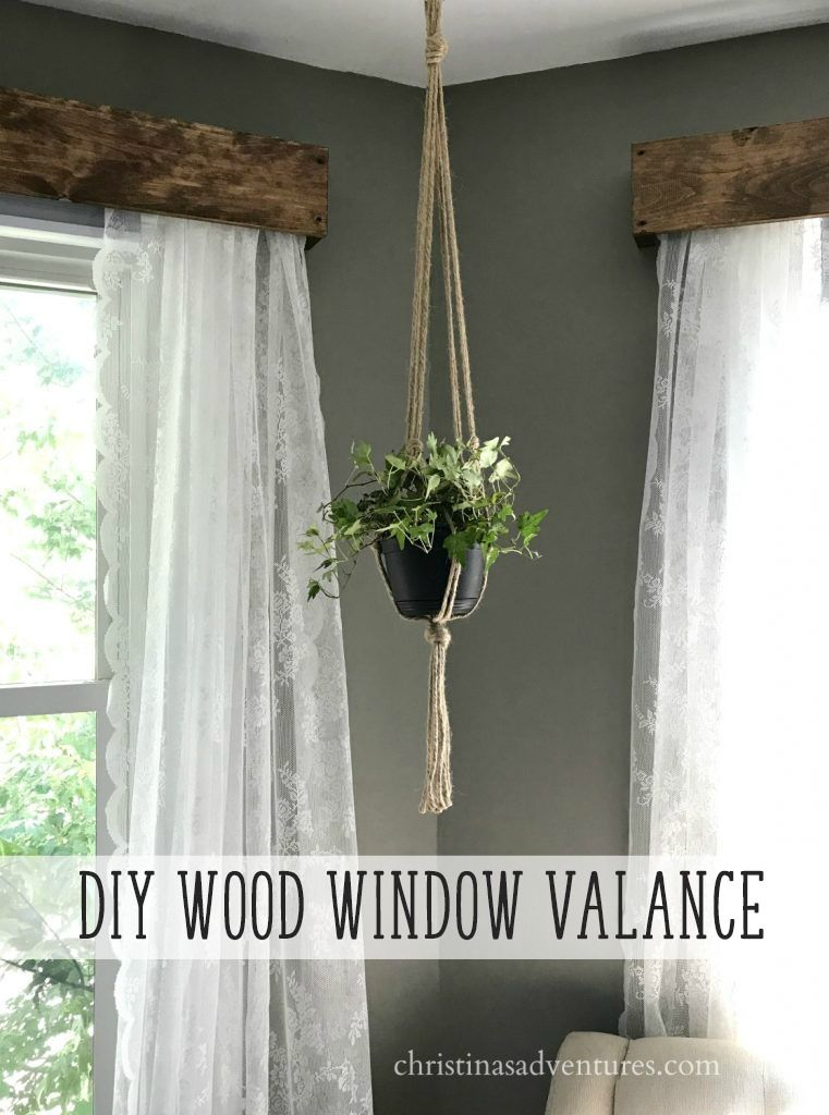 DIY wood window valance tutorial with lace