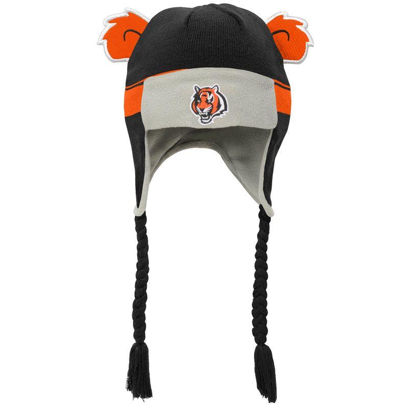 Cincinnati Bengals Toddler Ears Trooper Stripe Tassel Knit Hat - Orange  Black 54b92fe37