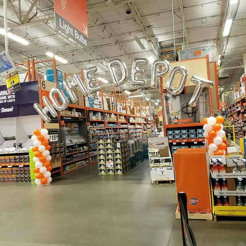 Home Depot Columns And Letter Arch  Corporate Balloon Dcor