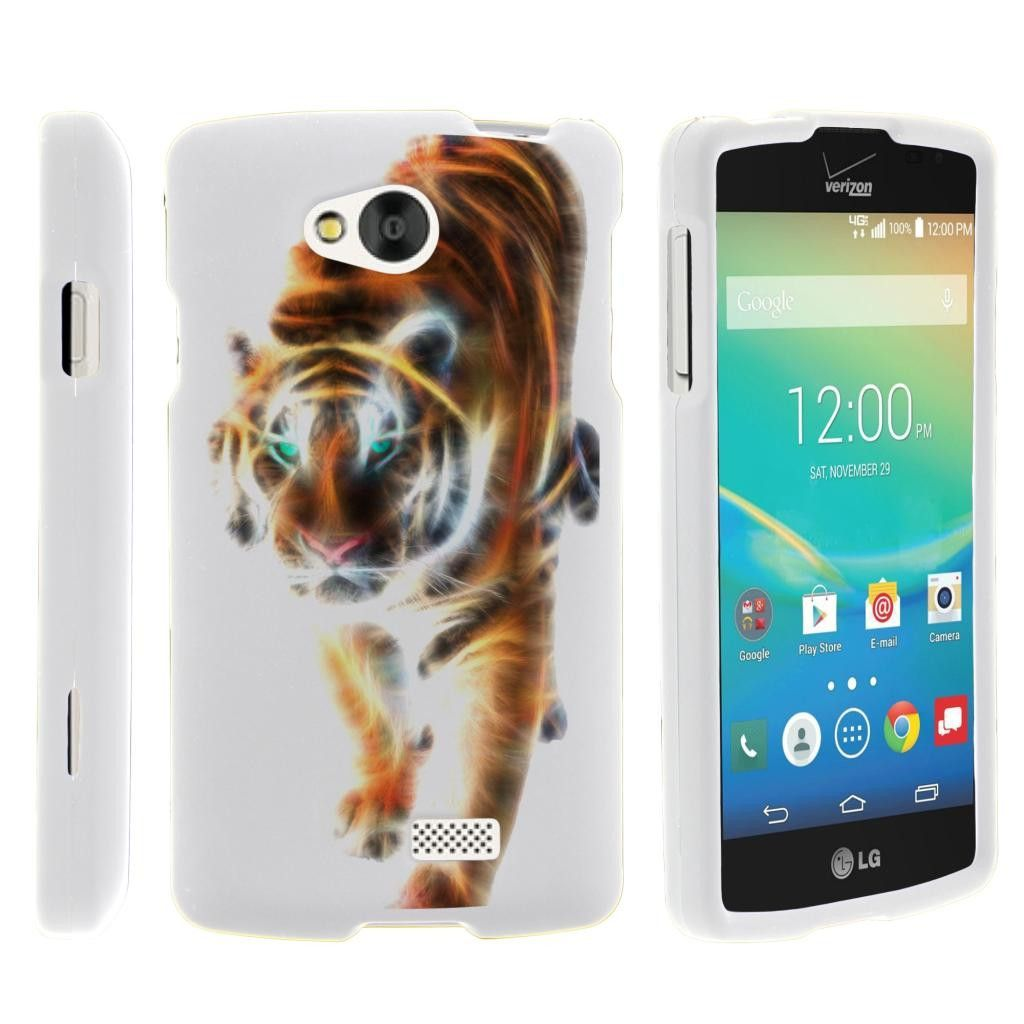 Tribute | F60 Case SNAP SHELL 2 Piece Fitted Rubberized Hard Cover - Blazing Tiger