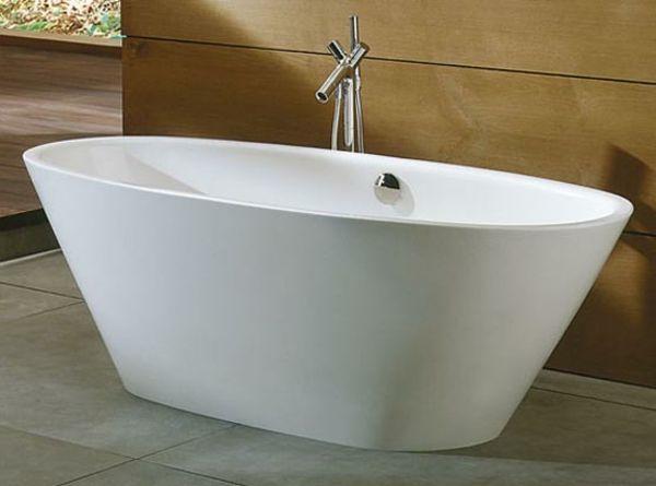 ultramodernes design von wei er badewanne freistehend. Black Bedroom Furniture Sets. Home Design Ideas