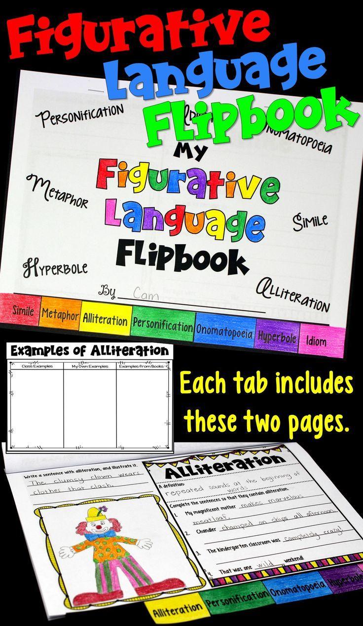 Figurative Language Flipbook Literary Devices Alliteration