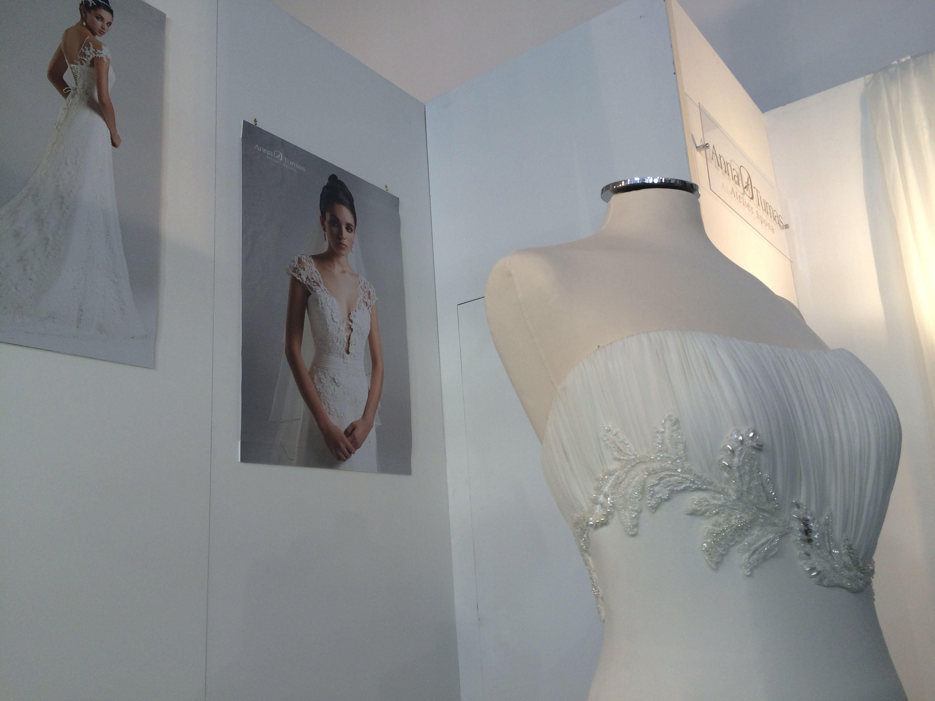 #weddingdress #eventinRome  Stand e abiti #AnnaTumas presso Anteprima #RomaSposa2014 - Palazzo dei Congressi
