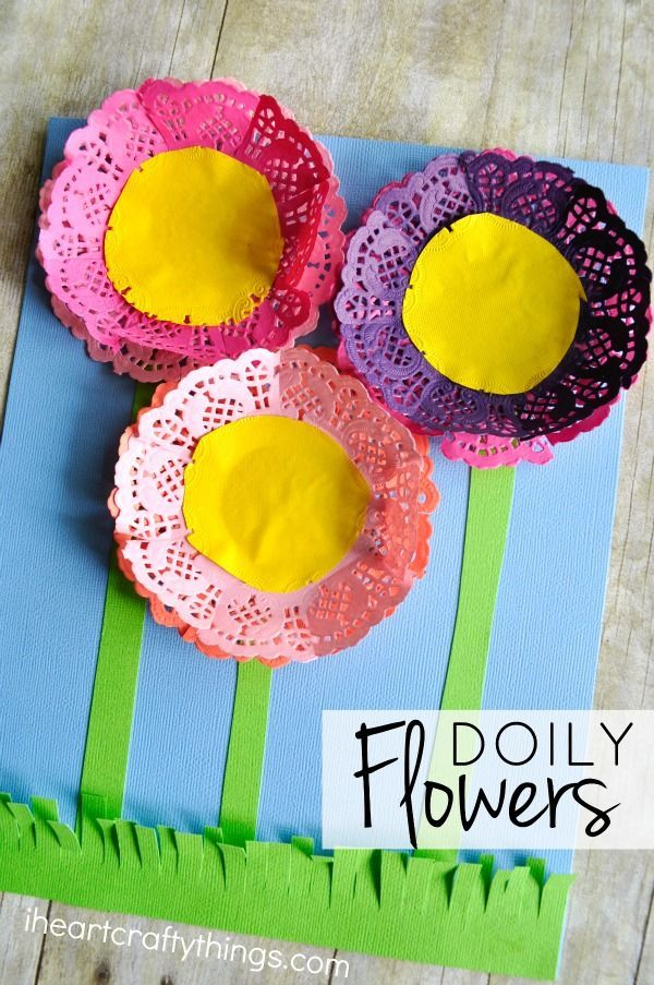 Colorful paper doily flowers kids crafts pinterest paper these colorful paper doily flowers are simple to make and the end result is stunning mightylinksfo