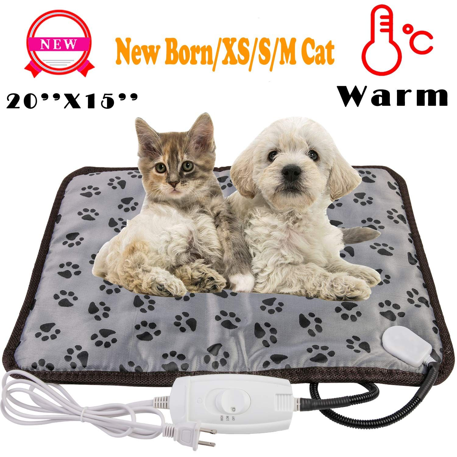 Wangstar X Large Pet Heating Pad And Pet Heated Blanket Warm Pet Heat Mat For Dogs Cats With Chew Resistant Cord Wate Pet Heating Pad Pet Pads Heated Pet Beds