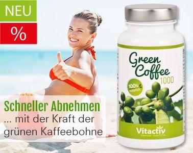 Grüne Kaffeebohne zur Gewichtsreduktion