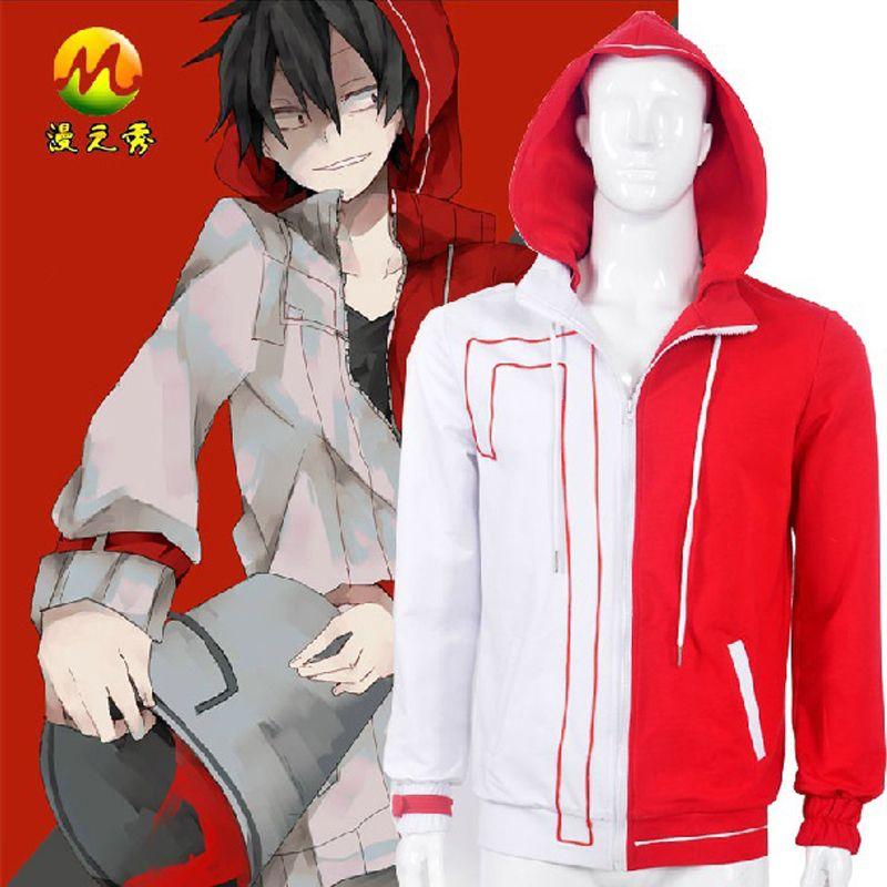 Anime Cosplay Kagerou Project Shintarou Kisaragi Daze Hoodie No.7 Cosplay  Costume Jacket Halloween Costumes