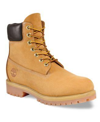 Timberland Men S 6 Premium Waterproof Boot Macys Com Timberland Boots Boots Mens Waterproof Boots
