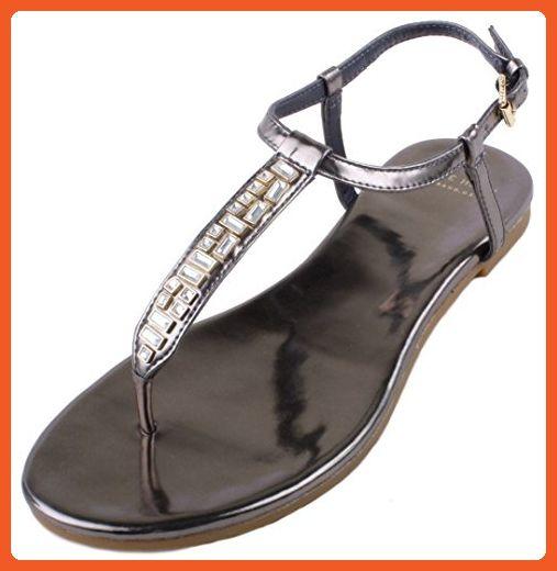 Womens Sandals Cole Haan Effie Jewel Sandal CH Gunmetal