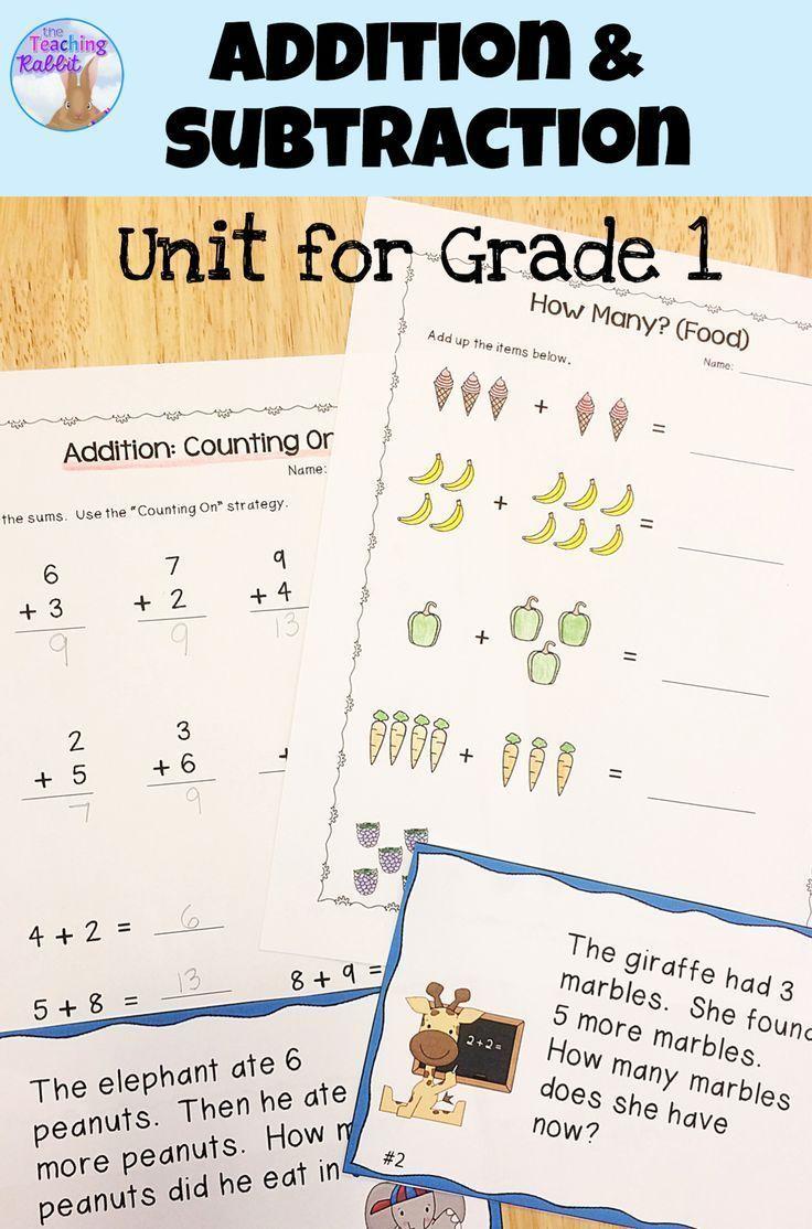Addition & Subtraction Unit (Grade 1) Ontario curriculum