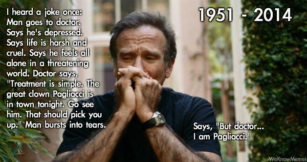 Robin Williams The Sad Clown Meaningful Robin Williams Robin