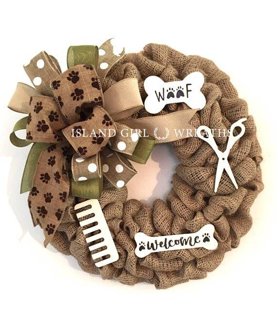 Dog Groomer Wreath Dog Groomers Gift Dog Wreath Dog Wreaths